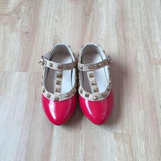 Valentino Red Girls Shoes