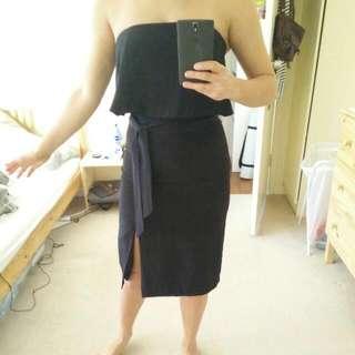 Silk Black Kookai Bare Shoulders Dress