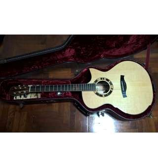 Maestro Singa-O full solid acoustic guitar with LR Baggs Anthem