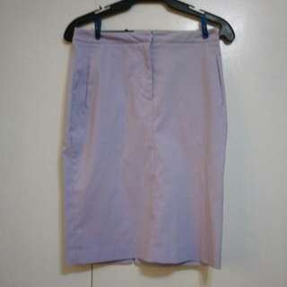 Lilac Office Skirt