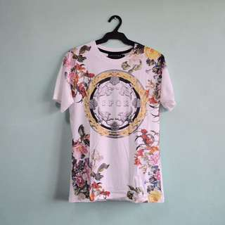 Floral And Gold Print Shirt