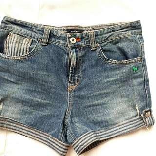 Blue Dog Denim Shorts