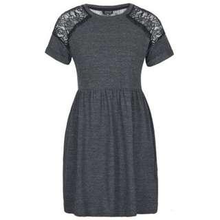 Topshop Grey Lace Dress