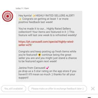 7TH!😍 Thank You Carousell & Valued Customers!❤