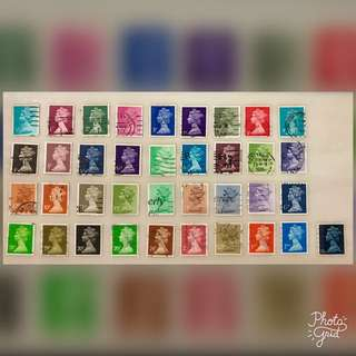 Great Britain Queen Stamps Collection