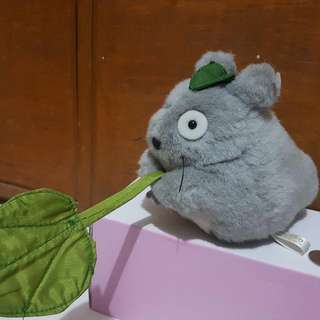 Totoro With Leaf