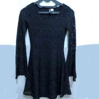 Free Ongkir- H&M Lace Black Dress