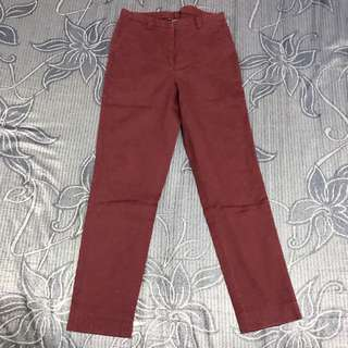 Celana Merek The Executive Warna Maroon Size 27-28
