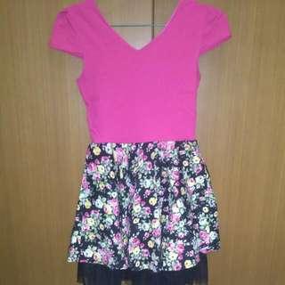 FREE ONGKIR Dress Pink