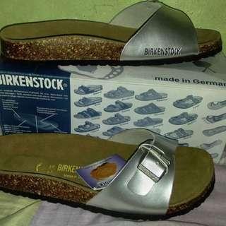 Authentic Birkenstock Madrid Birko Flor Silver