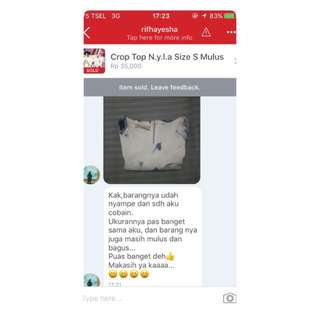 Testimoni From Our Lovely Customer!! Thankyou dear❤️❤️