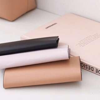 時尚設計感純牛皮手機皮夾