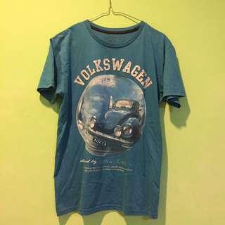 T-Shirt Volkswagen Biru