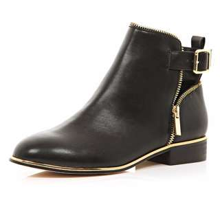River Island gold trim boots