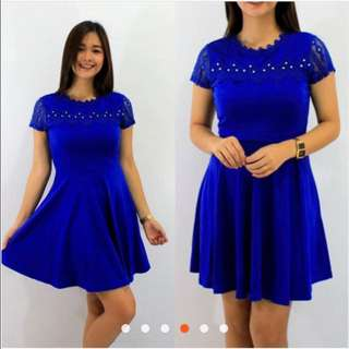 Beaded Lace Sleeve Dress