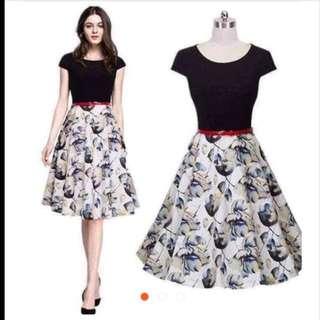 Tropical Swing Chiffon Dress