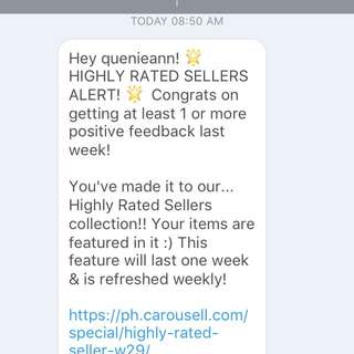 Once again, thank you Carousell