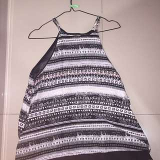 Tanktop Colorbox Black And White