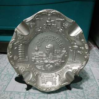 Singapore Display Plate With Holder