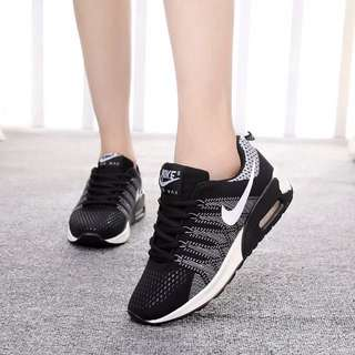 PO: Black And White Nike Air Max Track Running Shoes