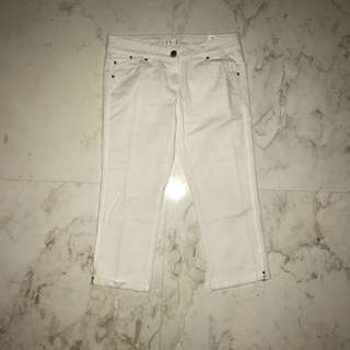 PROMOD White 3/4 Pants