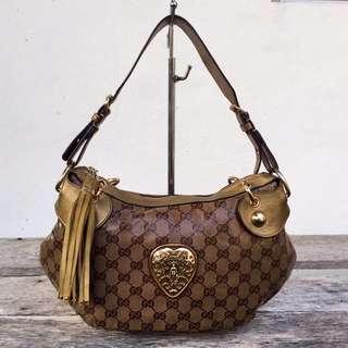 Authentic Gucci Babouska Vinyl Guccisima Hobo Bag