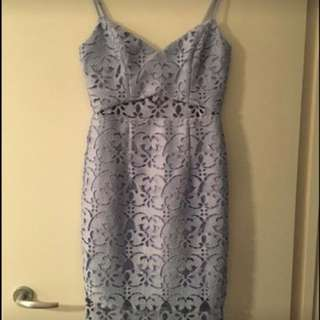Kookai Poppy Blue Lace Dress Size 38
