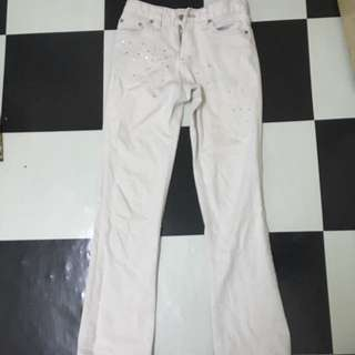 White Jeans Anna Kerry *preloved*