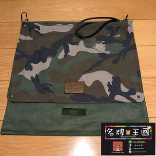 [全新] VALENTINO Camouflage Canvas Document Holder