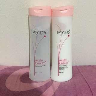 PONDS White Beauty Cleansing Milk & Lightening Toner