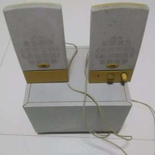 Speakers with mini subwoofer
