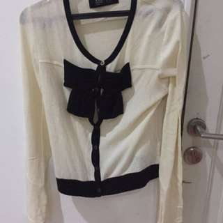 CHEAP ZARA JACKET CUTE BOW