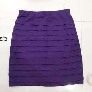 ruffled bodycon skirt