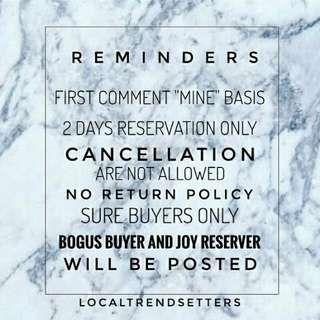 Rules & Regulations 🚫 Kindly check #localtfaq for more details to be guided on our ordering process.