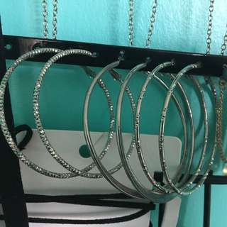 Three Pairs Of Hoop Earring