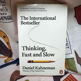 Thinking, Fast And Slow By Daniel Kahneman 《快思慢想》英文原著
