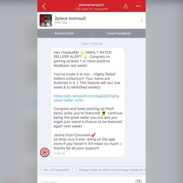 3rd time👍🏻 Thank you mga sis sa inyong mga positive feedbacks..Happy Carousell mga sis😘