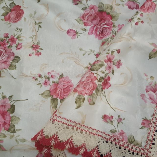 玫瑰桌布,桌巾