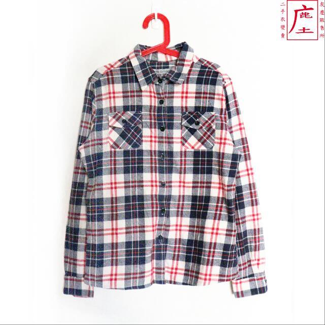 微法蘭絨格紋襯衫 [鹿庄]