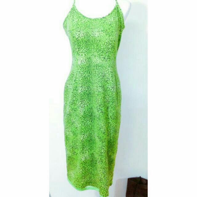 送 豹紋露背合身連身長裙洋裝