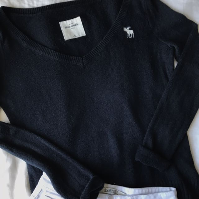 Abercrombie Navy Knit Sweater