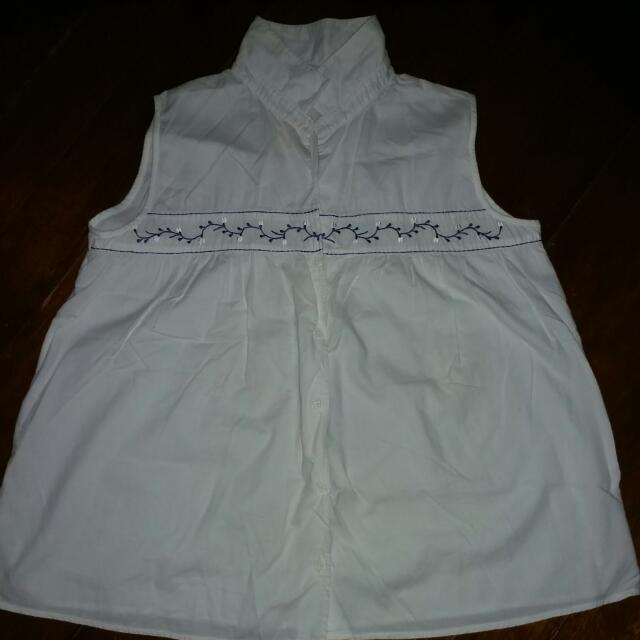 ADDITIONS White Maternity Top