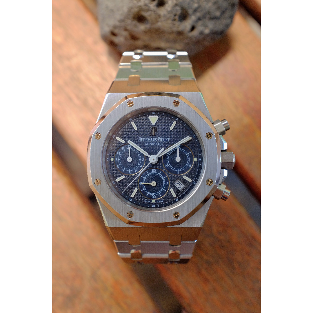 873938ae927 AUDEMARS PIGUET AP Royal Oak Chronograph 25860 ST - 1st Edition with Petite  Tapisserie Dial, Luxury, Watches on Carousell
