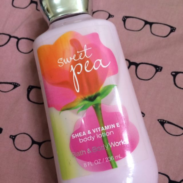 REPRICED: Authentic B&B Sweet Pea (shea and vit e body lotion). Product almost full since I've used it only twice. Bought from US. Price @ 300 + shipping fee.
