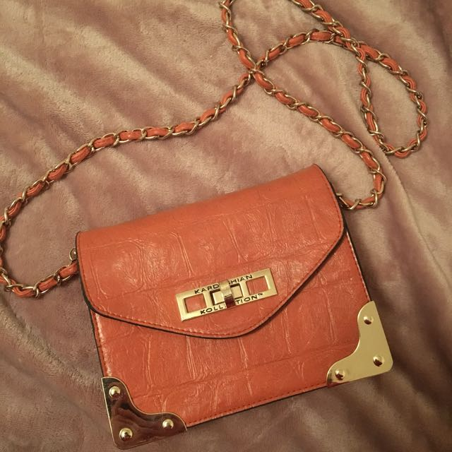 Authentic Kardashian Kollection orange bag