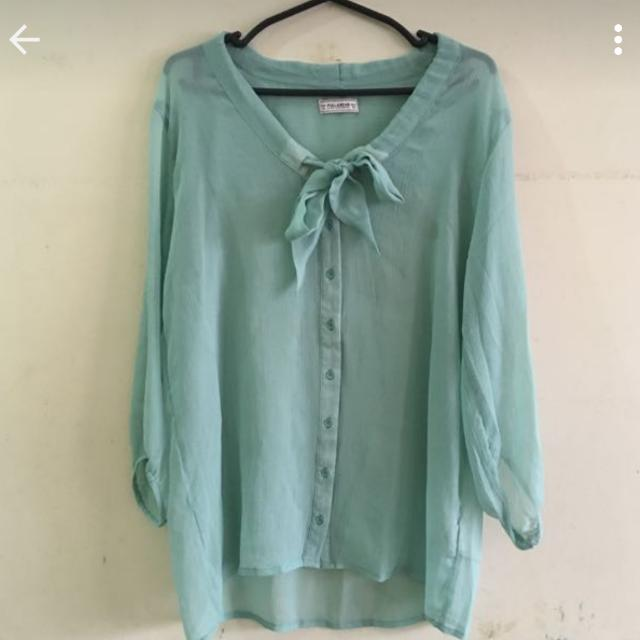 Authentic PULL&BEAR Sheer Blouse