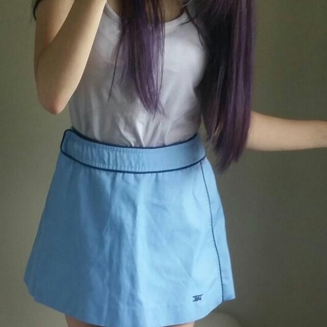 Baby Blue Vintage Tennis Skirt