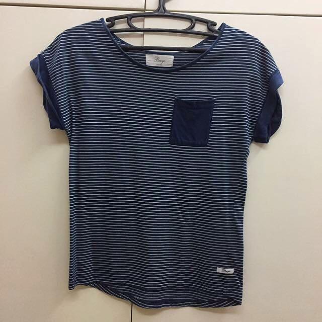 Bayo Navy Blue Striped Shirt