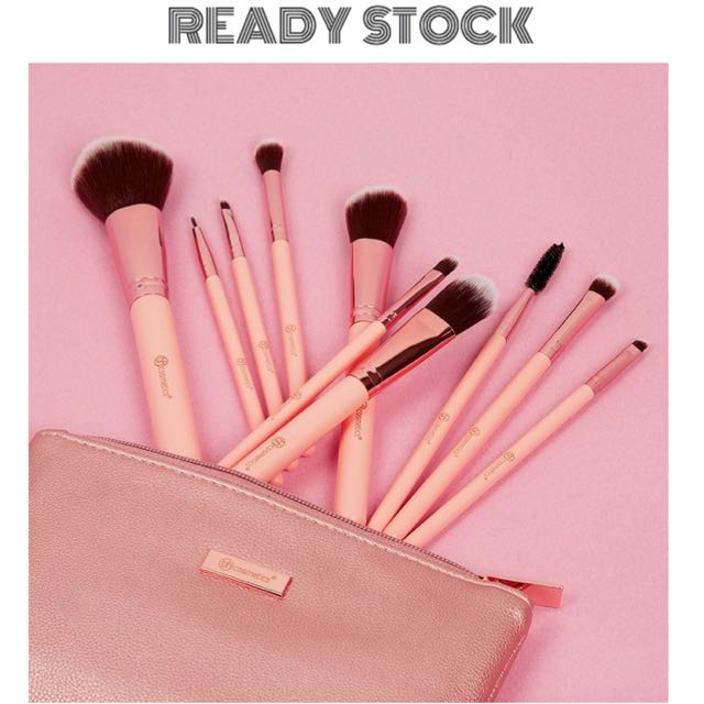 a9ea2a124d991 BH COSMETICS Pretty in Pink - 10 Piece Brush Set with Cosmetic Bag ...