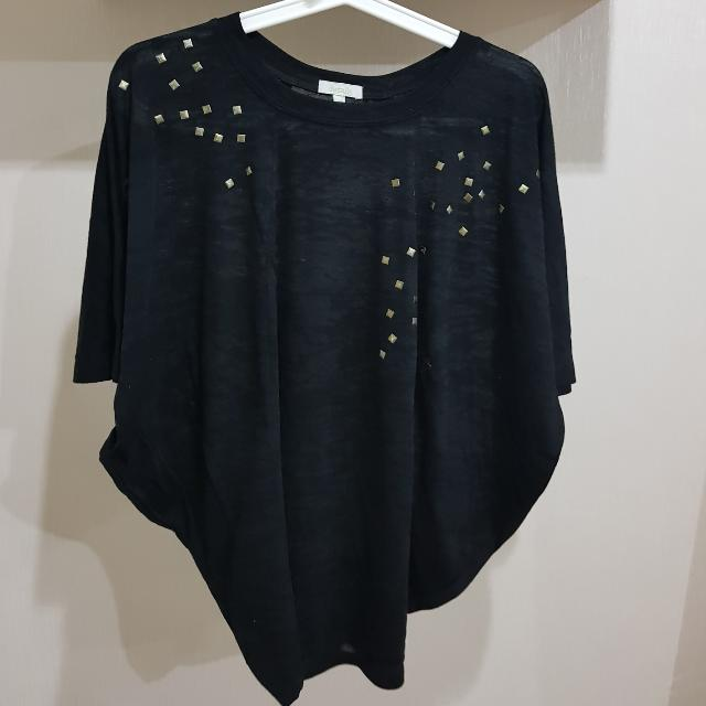 Black Batwing Top